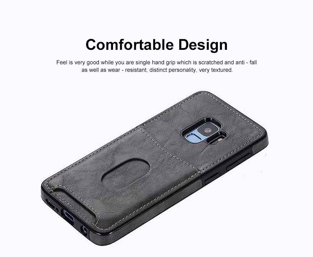 Leather Phone Cover, Detachable Two-in-one Split Mobile Phone Protective Shell for S8, S9, NOTE8, iPhone 2
