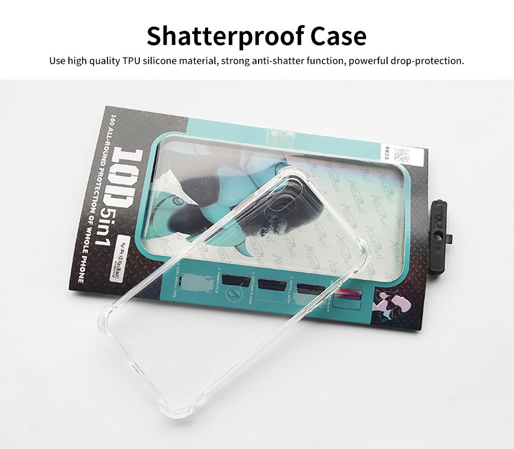 Heavy Duty Case with Soft TPU Bumper for iPhone, Full Protective Clear Phone Case 7