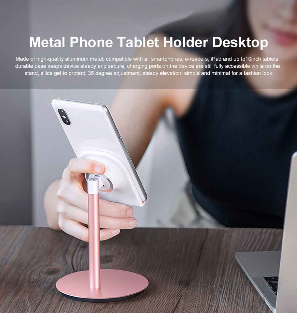 Aluminum Cell Phone Desk Stand, Desktop Universal Non-Slip Bracket Tablet Holder 0