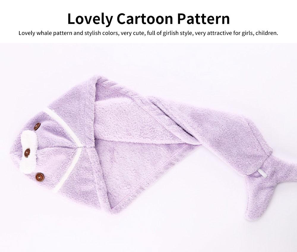 Cute Cartoon Pattern Hair Towel Cap, Ultra Absorbent Coral Velvet Hair Dry Towel  for Girls, Women, Kids 3