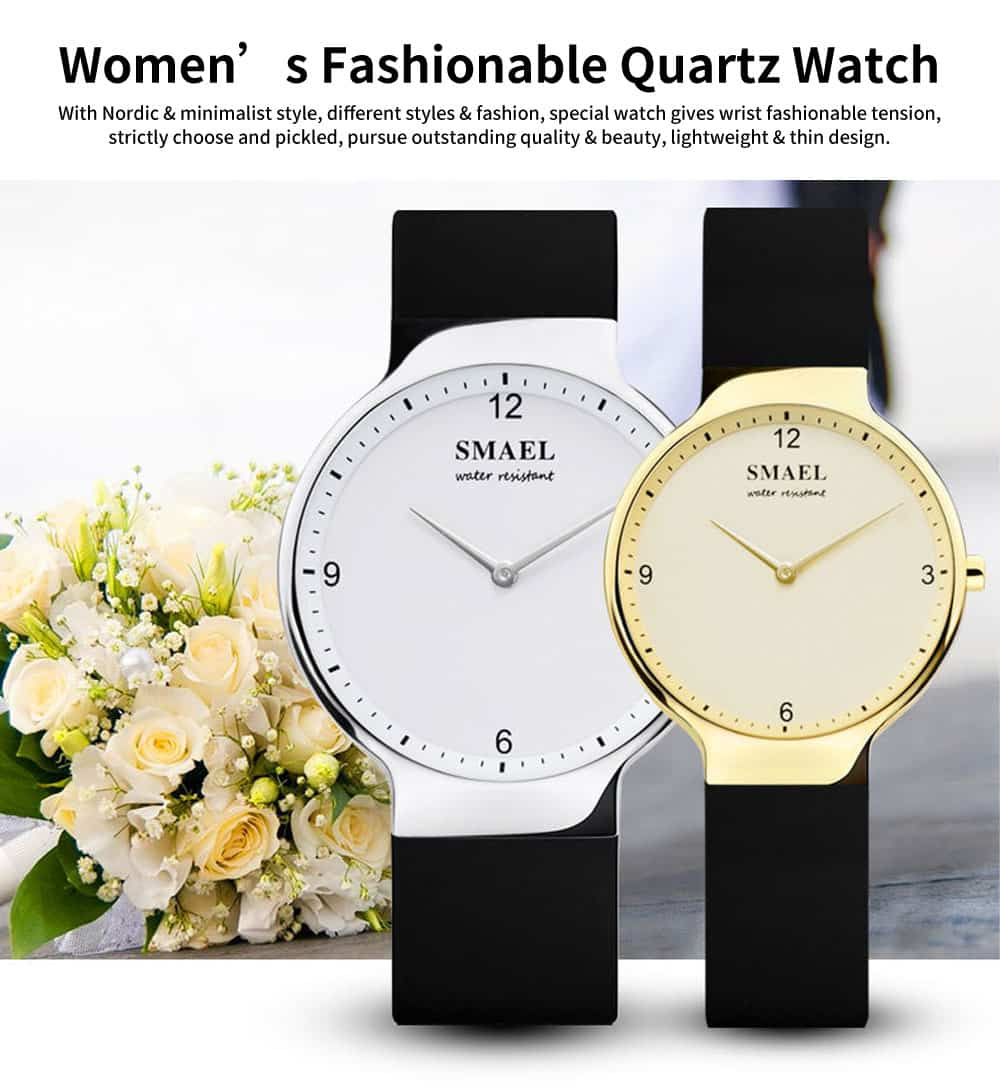 Best Women's Casual Watches 2019 New Korean Style Quartz Watch With Silicone Strap 0