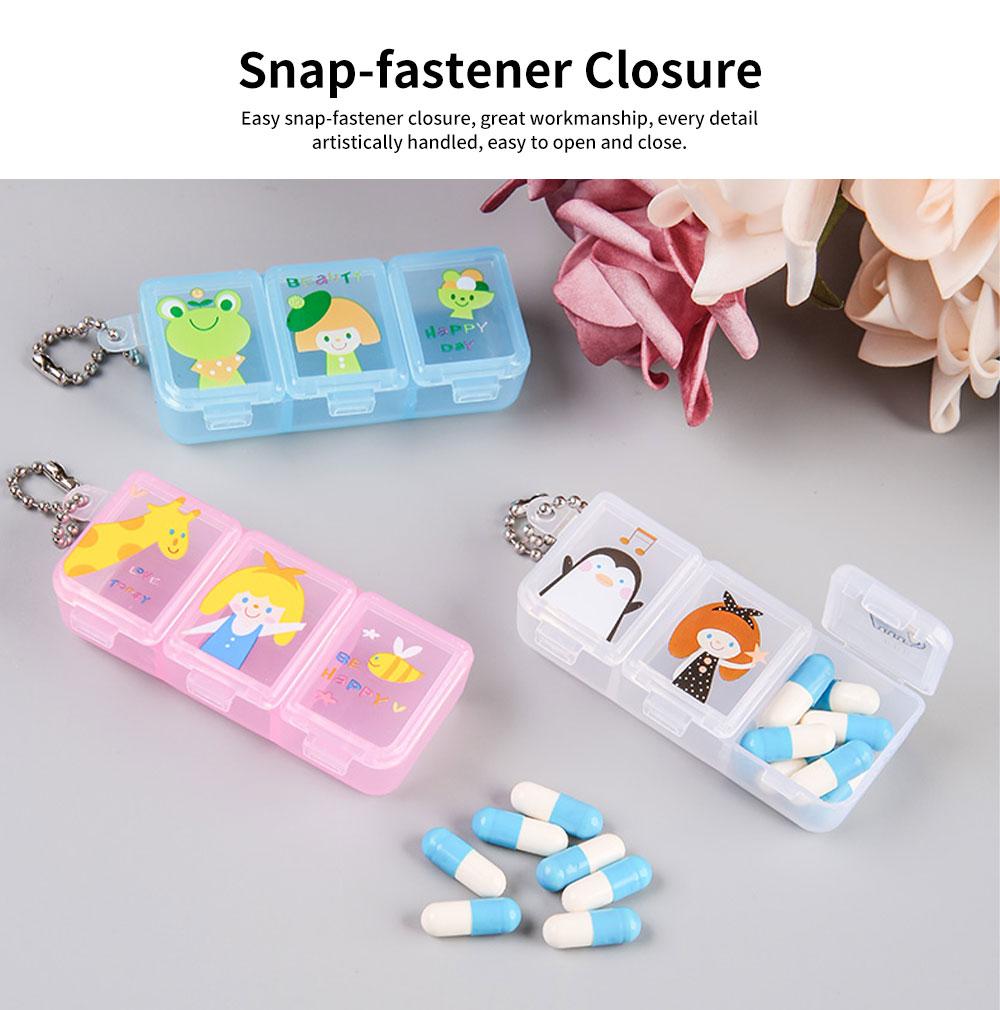 Cartoon Pill Box for Girls Cute Vitamin Storage Supplement Case 5