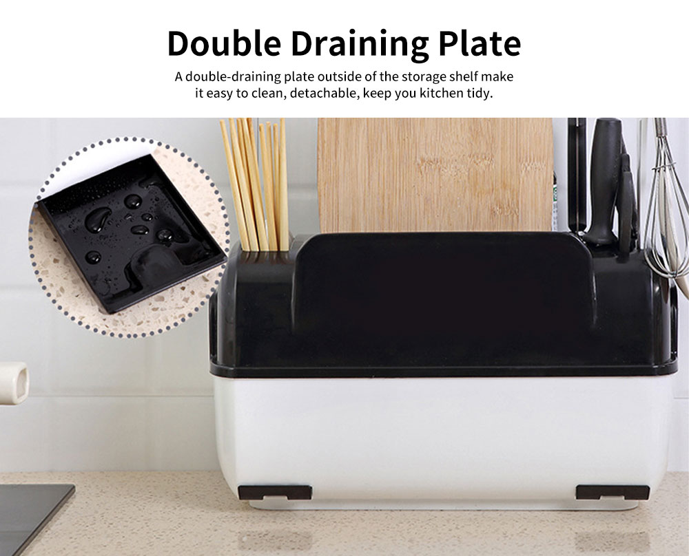 Multifunctional Tableware Storage Box, Innovative Dishware Storage Shelf 4