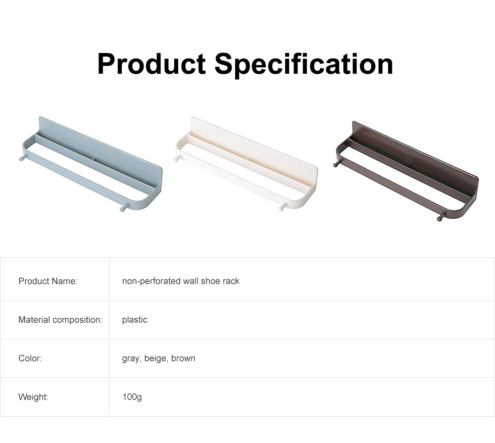 Wall-mounted Shoe Rack, Multifunctional Non-perforated Paste Hanging Rack 6