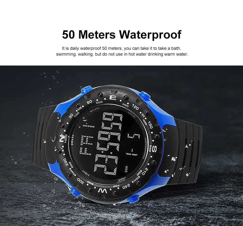 Multifunctional Water-poof Digital Watches, Smart Electronic Watch with TPU Strap 4