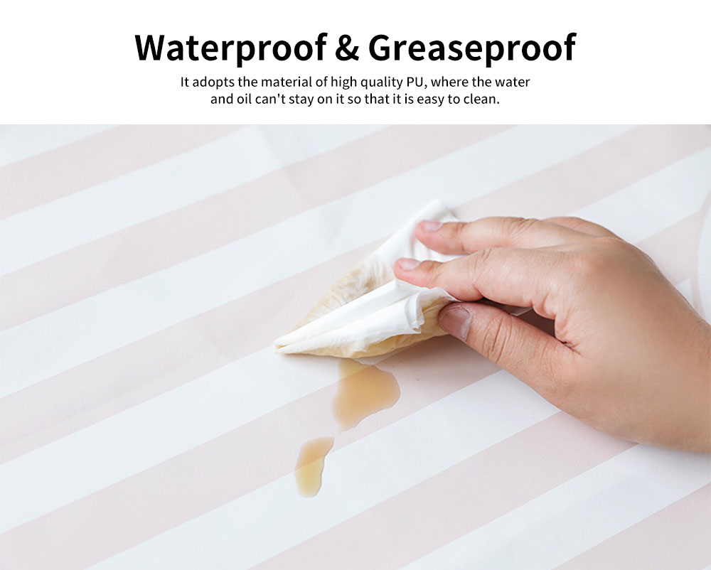 Waterproof Kitchen Apron, Greaseproof Contracted Printing PU Apron 3
