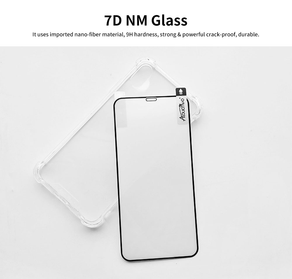 Heavy Duty Case with Soft TPU Bumper for iPhone, Full Protective Clear Phone Case 8