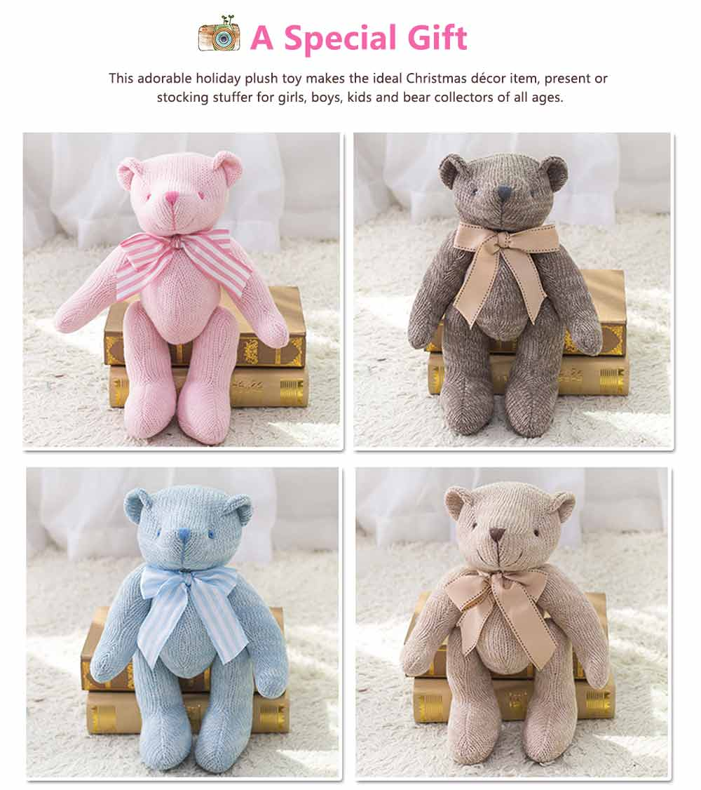 Cub Teddy Bear, Knitted Joints Bear Plush Toy 5