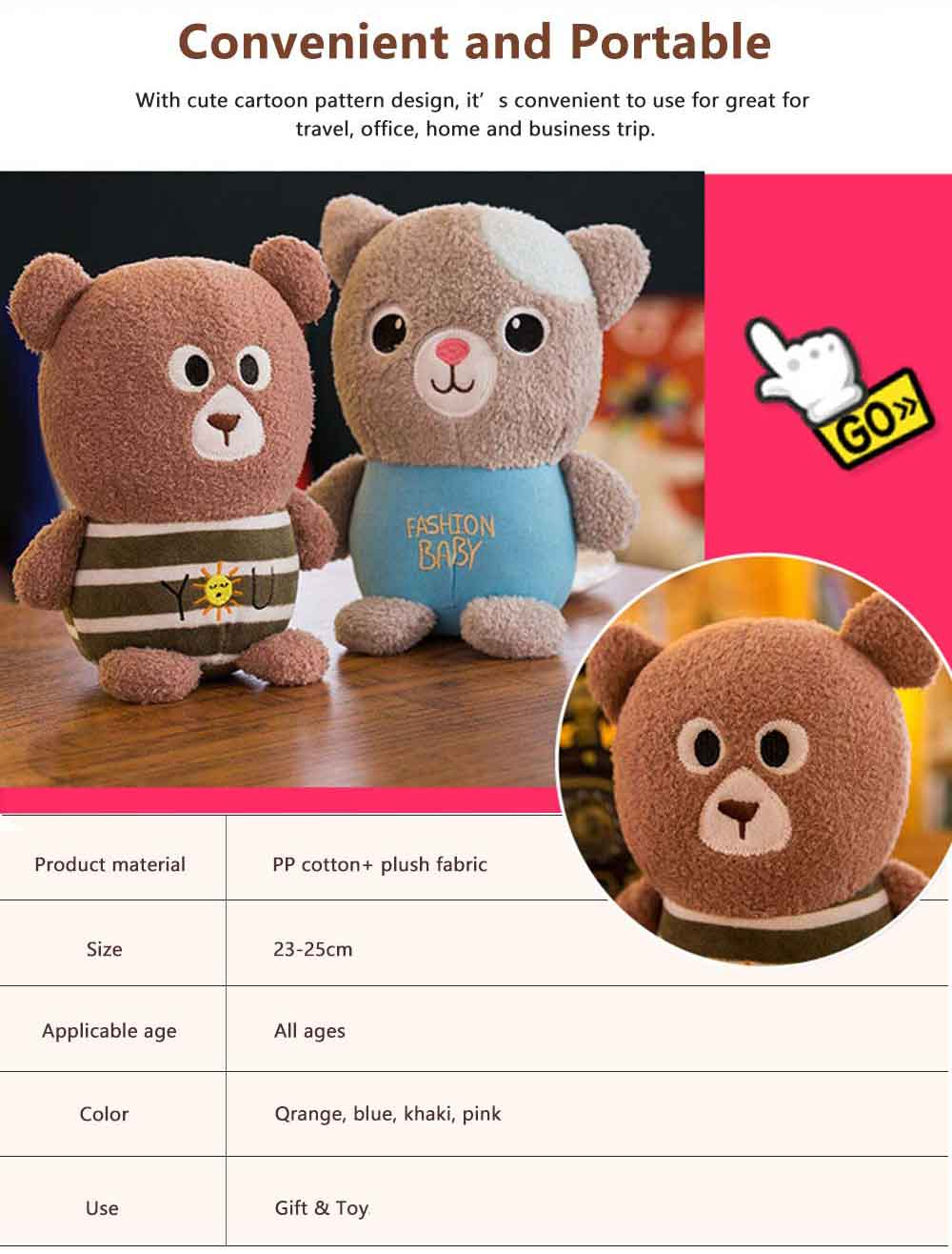 Mini Bear Grab Doll, Plush Toy Magic Craft Series Dolls, Special Gifts for Kids 5