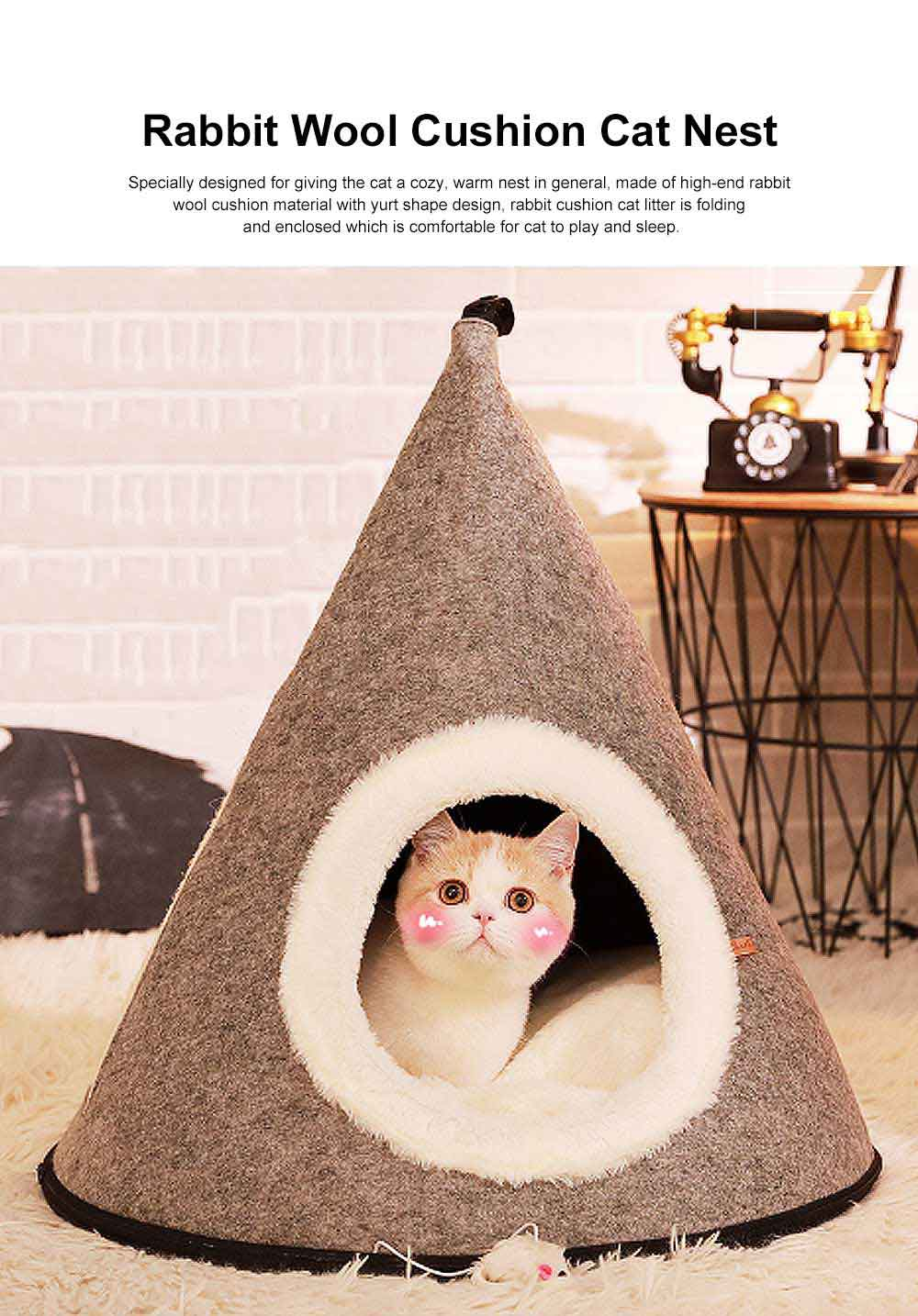 Cat Litter Yurt, Cat Litter House with Support & Backing Plate 0