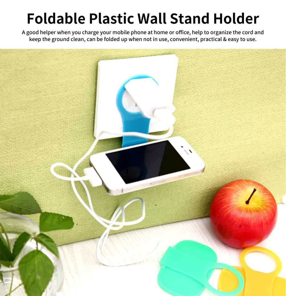 Wall Mounted Charging Stations for Electronics, Foldable Plastic Charging Rack Holder For Cell Phone 0