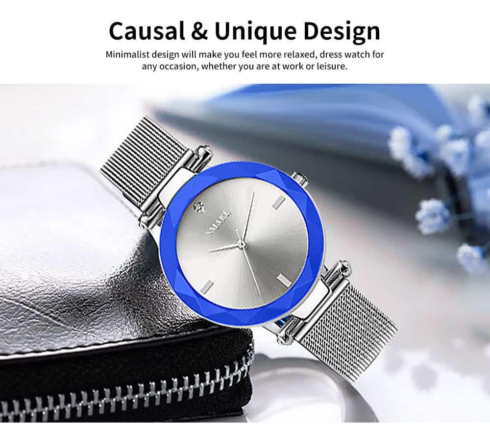 Women's New Fashionable Quartz Watch Korean Style Metal Strap Watch 3