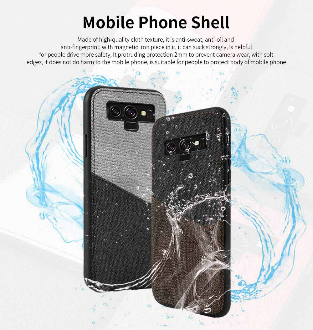 For Samsung Galaxy Note 9 Protective Case, Custom Shockproof Anti-fall Cloth Phone Shell Cover 0