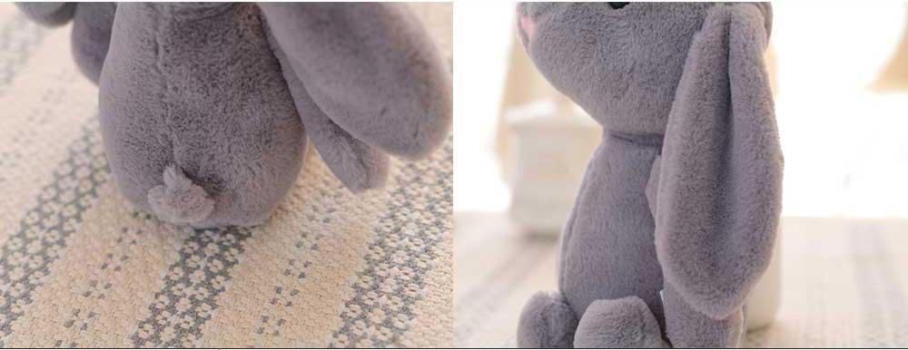 Elephant Stuffed Animal for Baby, Cute Rabbit Doll with Long Ears  8
