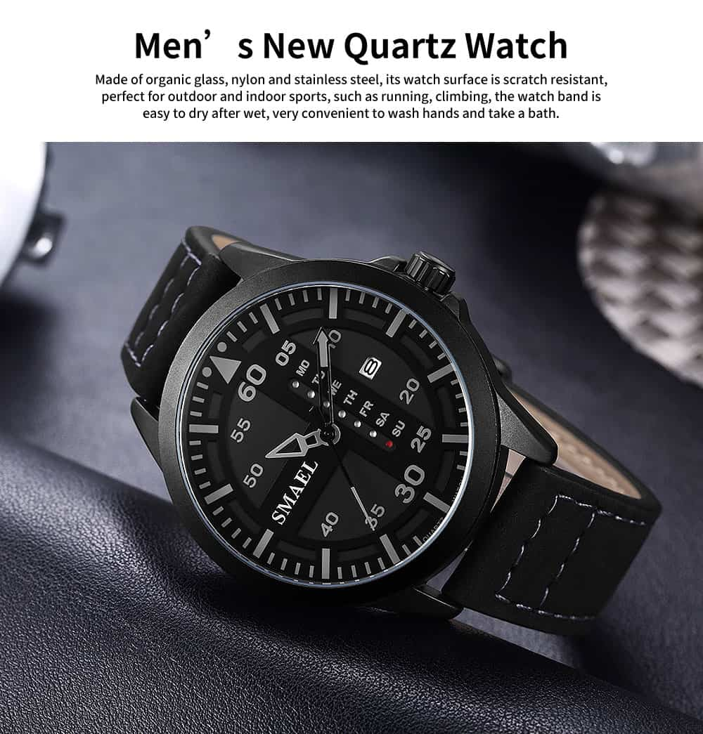 Men's Multifunctional Sport Watch, Fashionable Quartz Watch for Outdoor Use 0