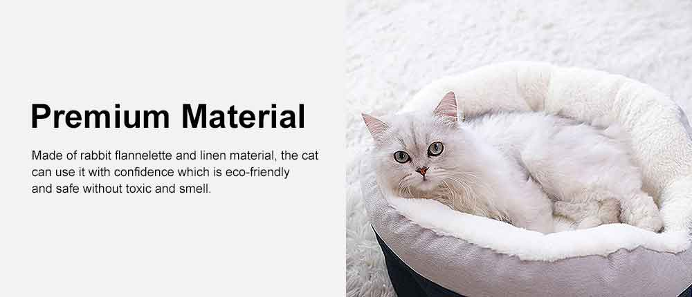 Cat Beds For Indoor Cats Washable, Multifunctional Cat Litter With  1