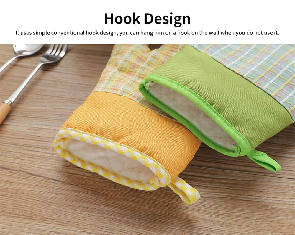 Cotton Microwave Oven Gloves, Heat Insulating Gloves with Gorgeous Plaid 4