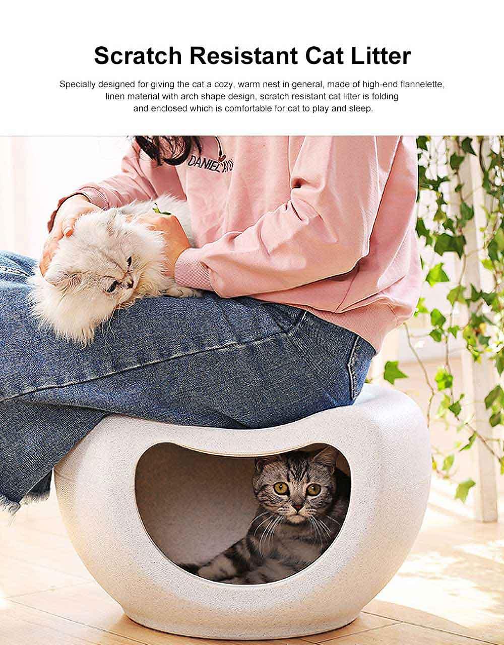 Semi Closed Cat Litter, Durable & Convenient Cat Cave Pet Bed 0