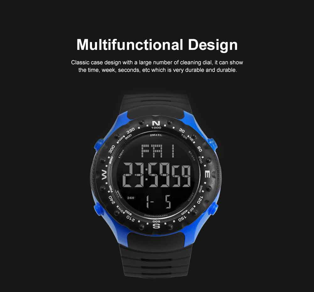Multifunctional Water-poof Digital Watches, Smart Electronic Watch with TPU Strap 5