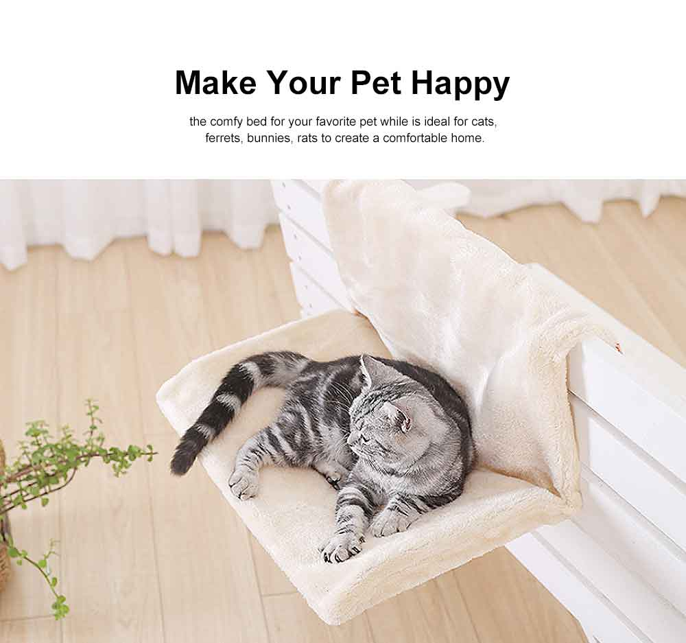 Multifunctional Cat Hammock with Support, Portable & Removable Cat Mat Hanging Chair 2