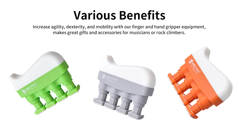 Adjustable Finger Strengthener and Hand Exerciser for Guitar Bass Piano or Therapy 5