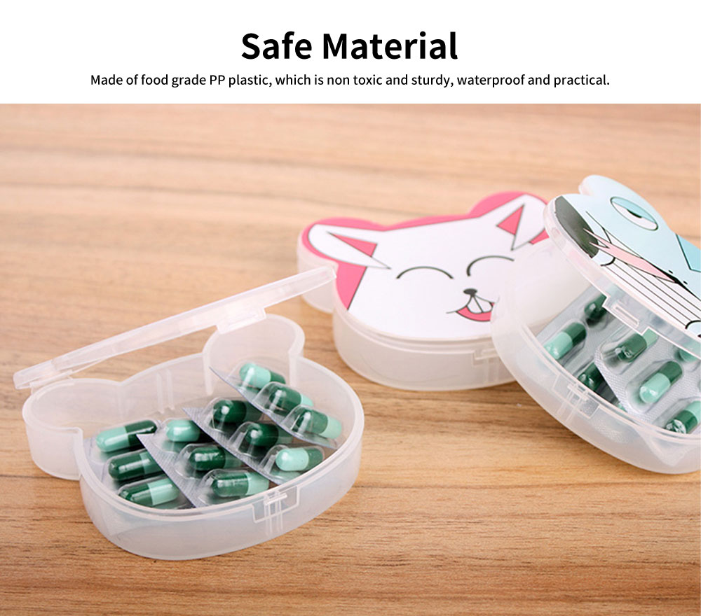 Cute Animal Pill Case, Mini Cartoon Animal Pattern Pill Storage Box For Children 1