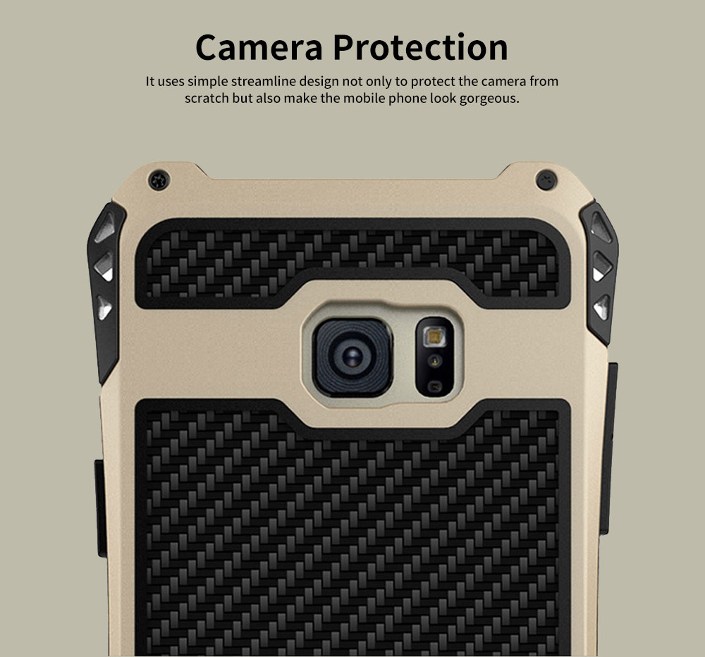 Chinese Style Zinc Alloy Phone Case, with Carbon Fiber and Tempered Glass for Galaxy Note FE 10