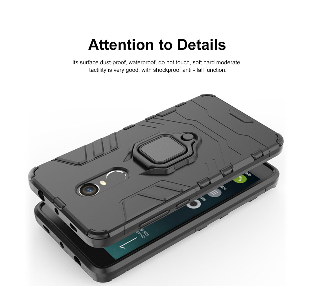 Phone Case With Ring Grip, Anti-Fall Smart Phone Shell For XIAOMI 4