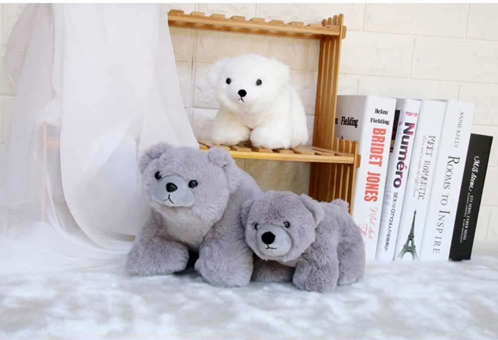 Polar Bear Stuffed Toy, Cute White Bear Doll Grab Doll Plush Toys for Children 6