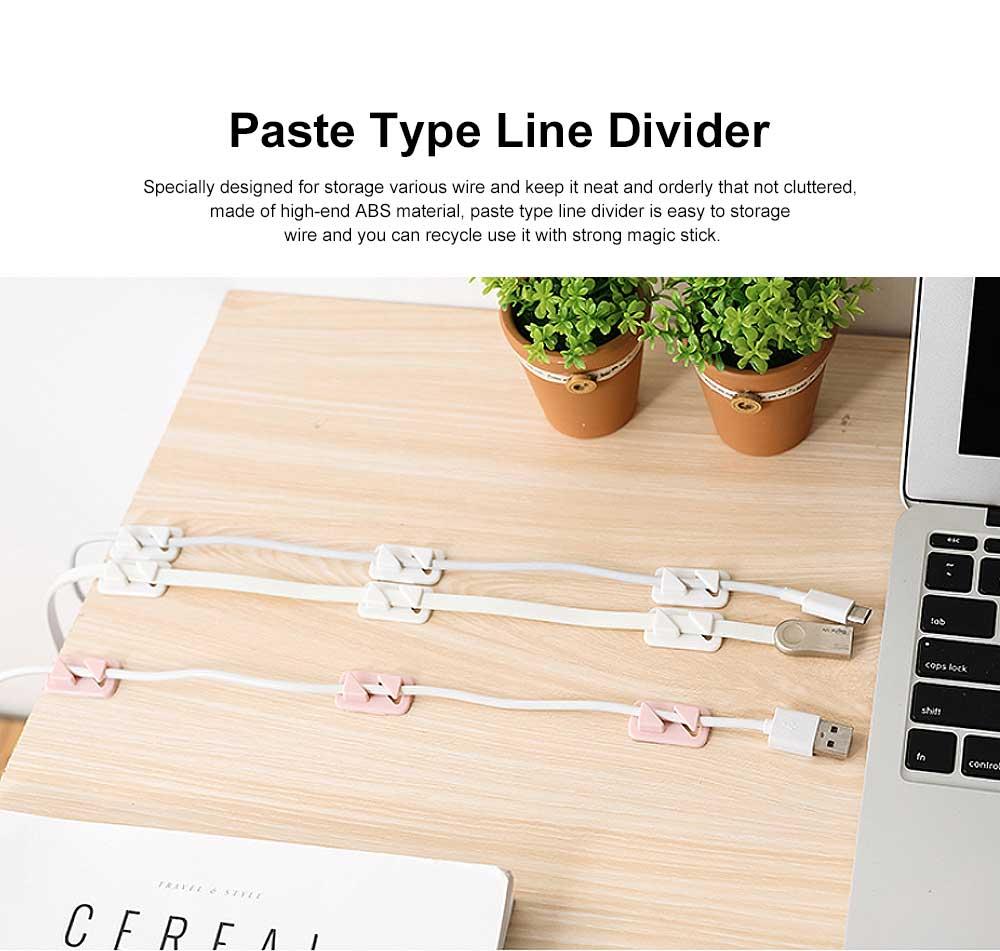 Punch Free Paste Line Divider, 24 Wire Holder Organizer Clips 0