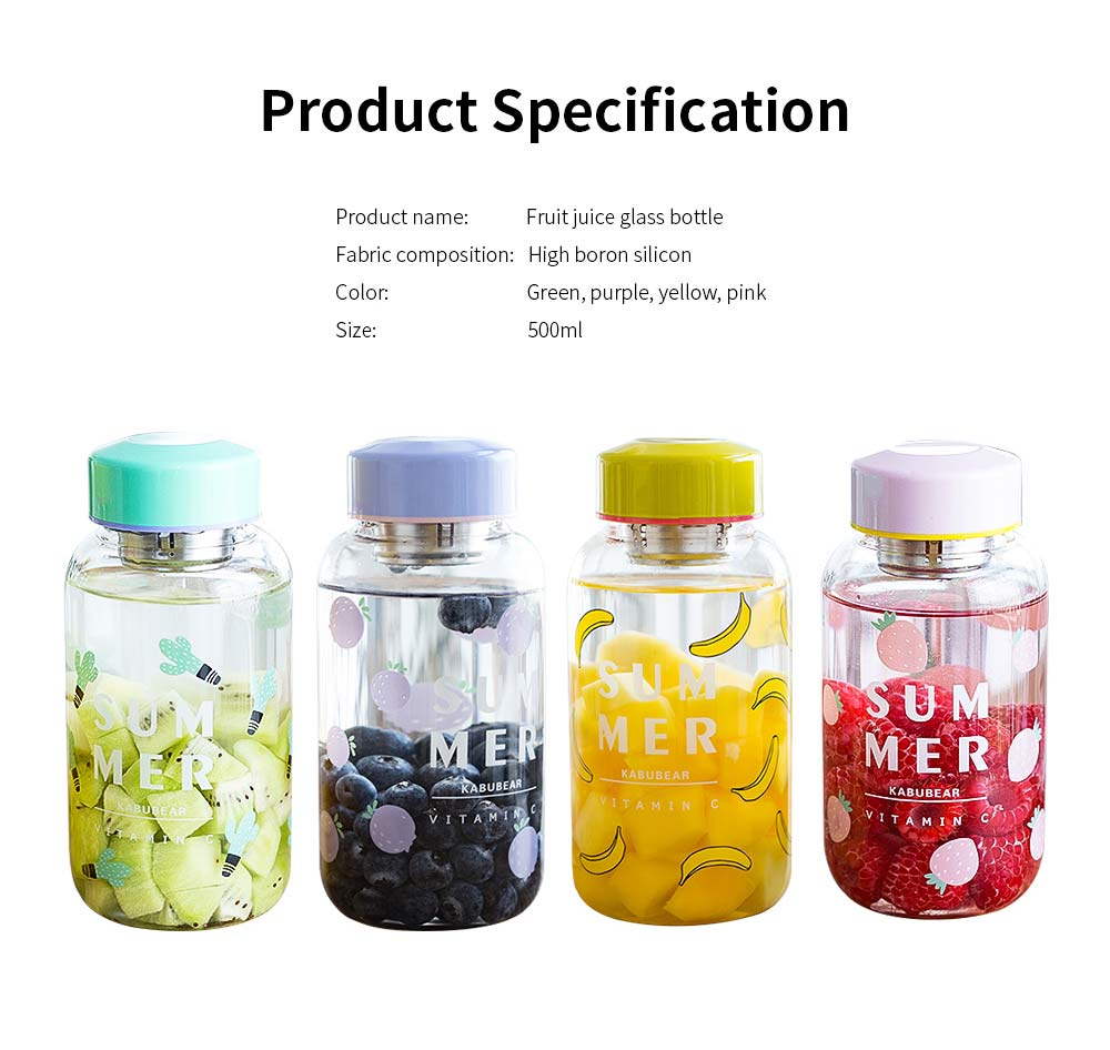 Fruit Juice Glass Bottles, Glass Bottle with Tea Partition 6