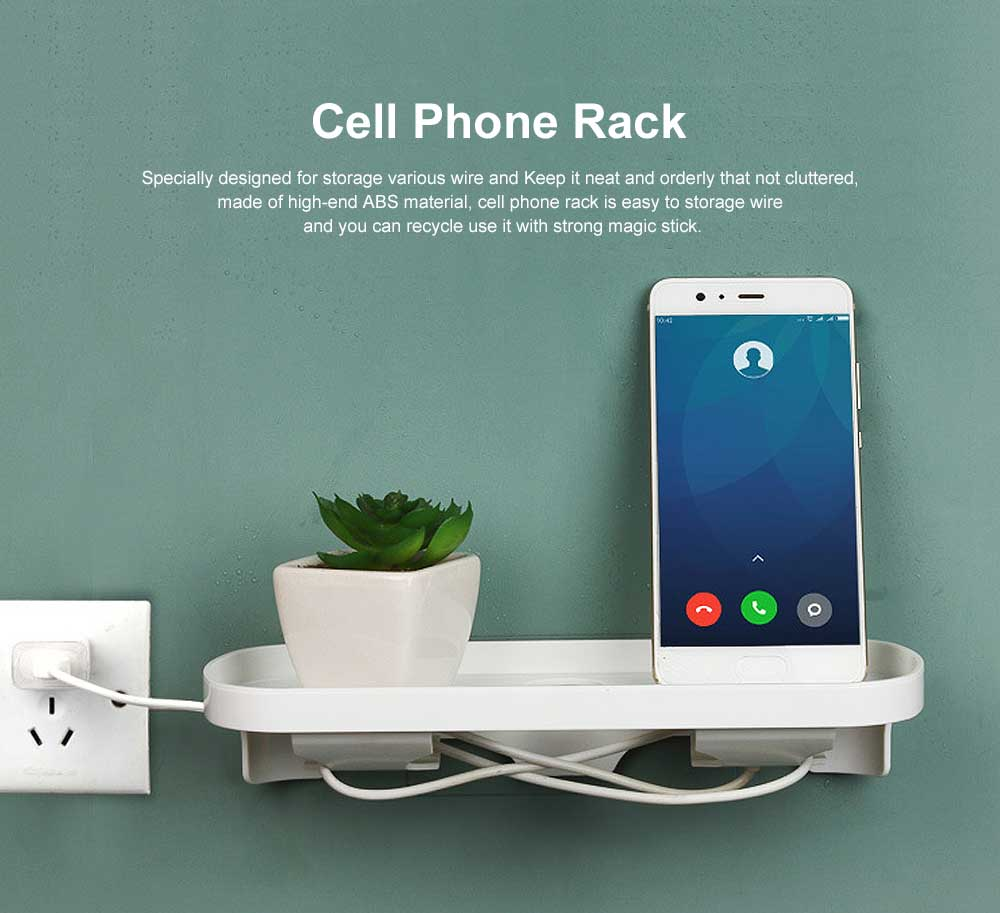 Wall Outlet Charging Shelf, Power Perch Charging Station for iPad Tablet, Convenient No Punch Cell Phone Rack 0