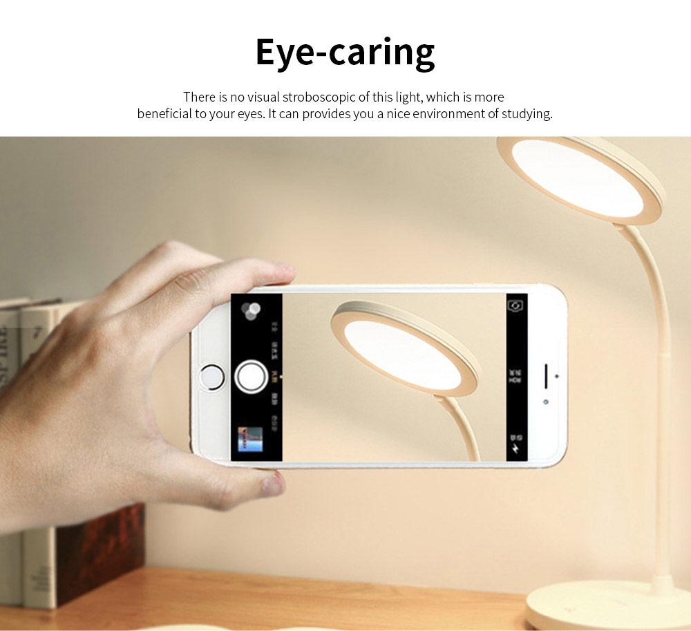 Chargeable Eye-caring USB Lamp, LED Clamp Lamp for Kids and Students, Touch Control 7