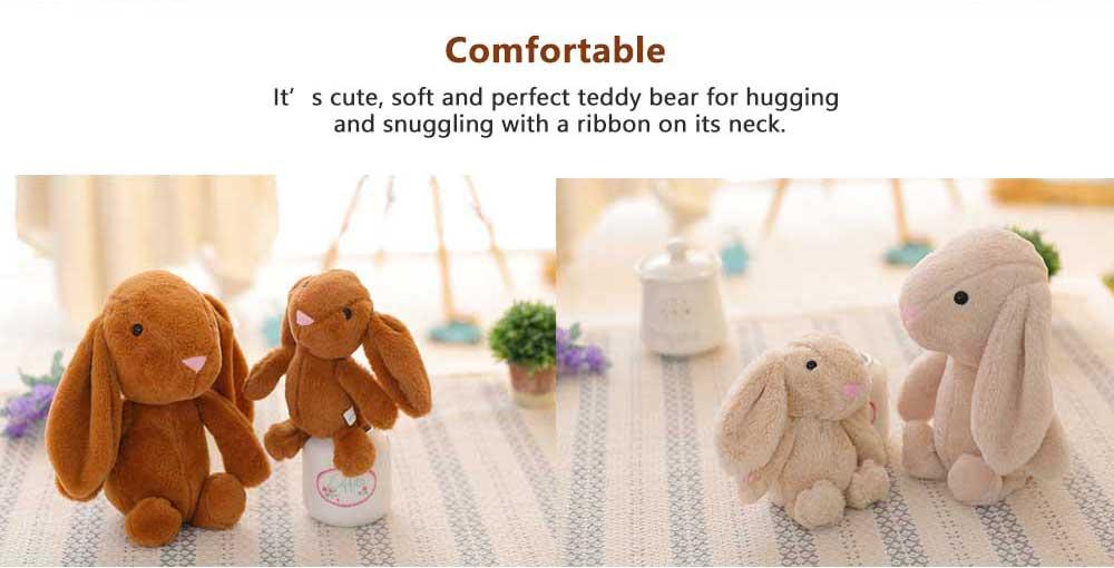 Elephant Stuffed Animal for Baby, Cute Rabbit Doll with Long Ears  4