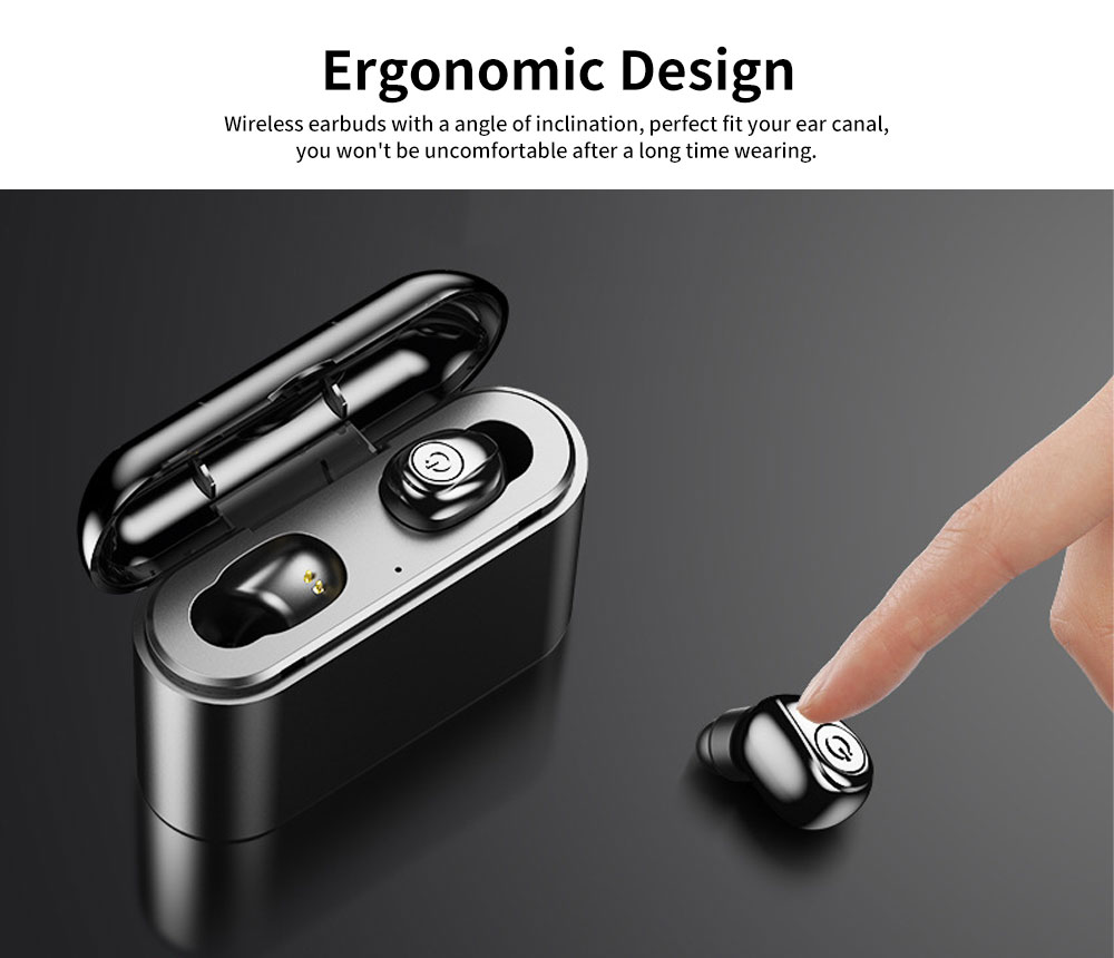Wireless Bluetooth Earbuds Free Noise Stereo Headphone Compatible with All Phone Devices 4