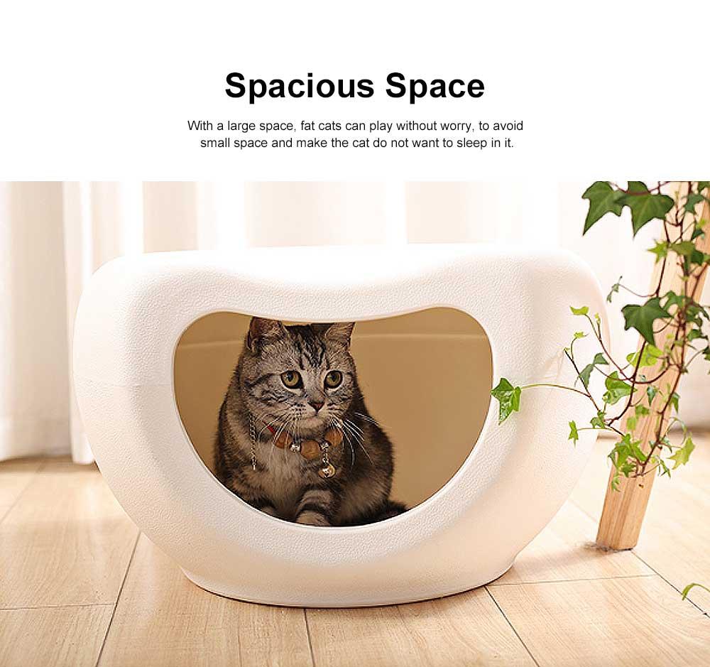 Semi Closed Cat Litter, Durable & Convenient Cat Cave Pet Bed 4