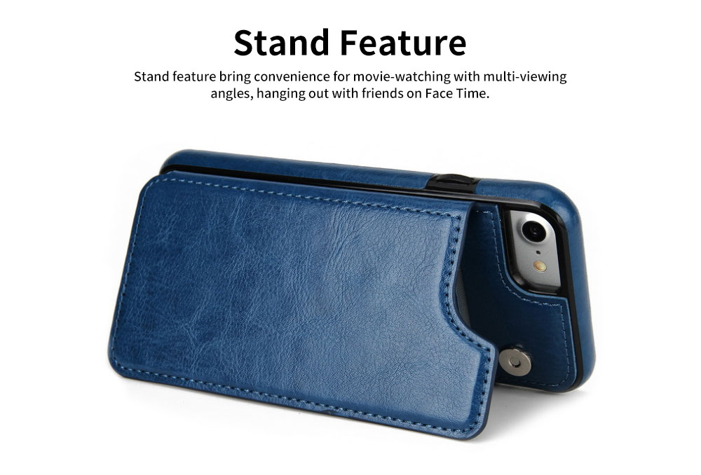 Multifunctional Leather Phone Case with Card Slot, Smart Phone Cover Case for iPhone XR, Max 7/8 5