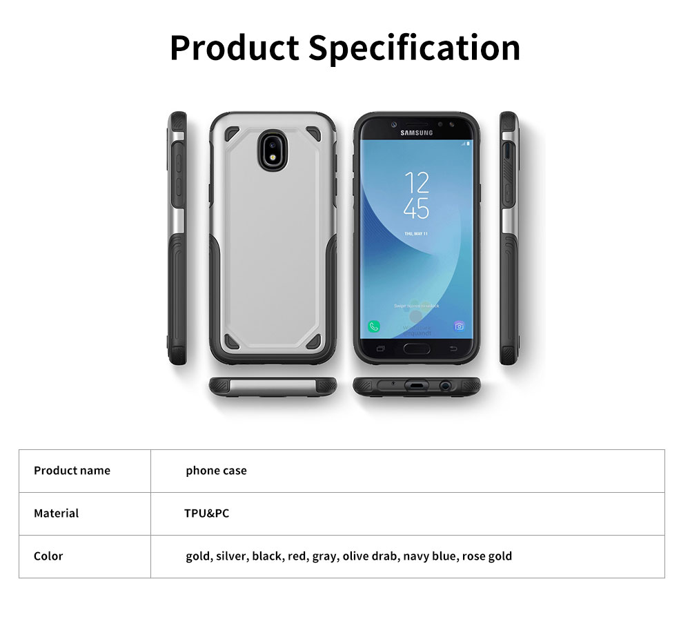 Innovative Armor Phone Case, Two-in One Phone Protection Cover Shatterproof for Samsung, iPhone 12