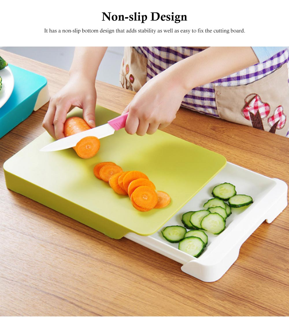 Drawer Type Cutting Board, Slide Out Kitchen Cutting Board With Study And Durable Food Grade PP Material 2