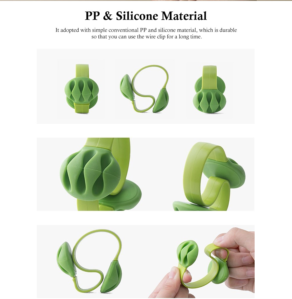 Tableside Wire Clip, with S Shape Design, PP and Silicone Material, Fit Different Thicknesses of The Table 5