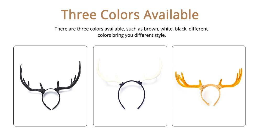 Elk Antlers Hair Band Head Hoop for Birthday Anniversary Cartoon Polyethylene Plastic Lovable Head-wear 1