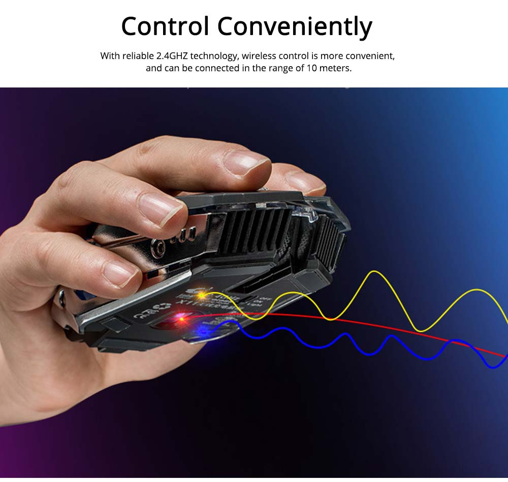 Wireless Mouse Silent Click Dual Compatibility with PC Desktop Notebook, Rechargeable 2.4GHZ Lighting Mouse 4