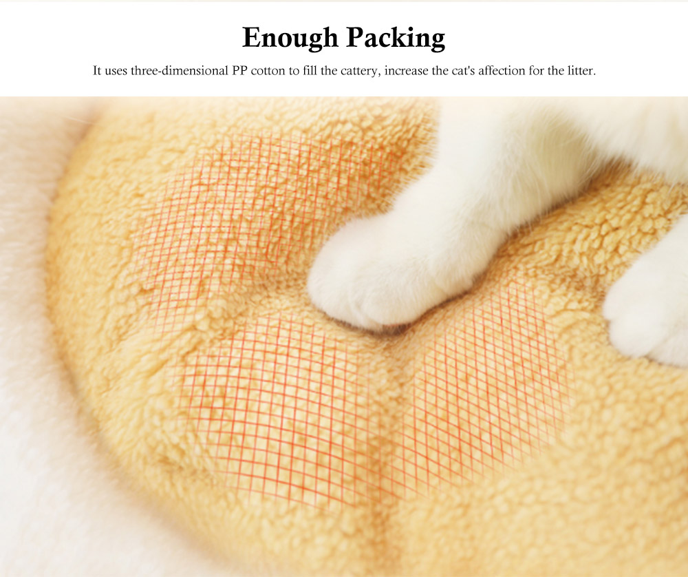 Hamburger Shape Cat House, with Soft Velveteen and PP Cotton Material, Skin-friendly Cat's Cattery 5