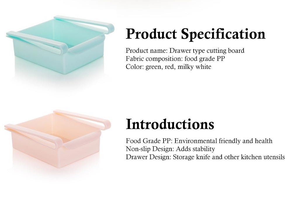 Slide Design Refrigerator Food Crisper, Commodity Shelf, Drawer Type PP Storage Box 7