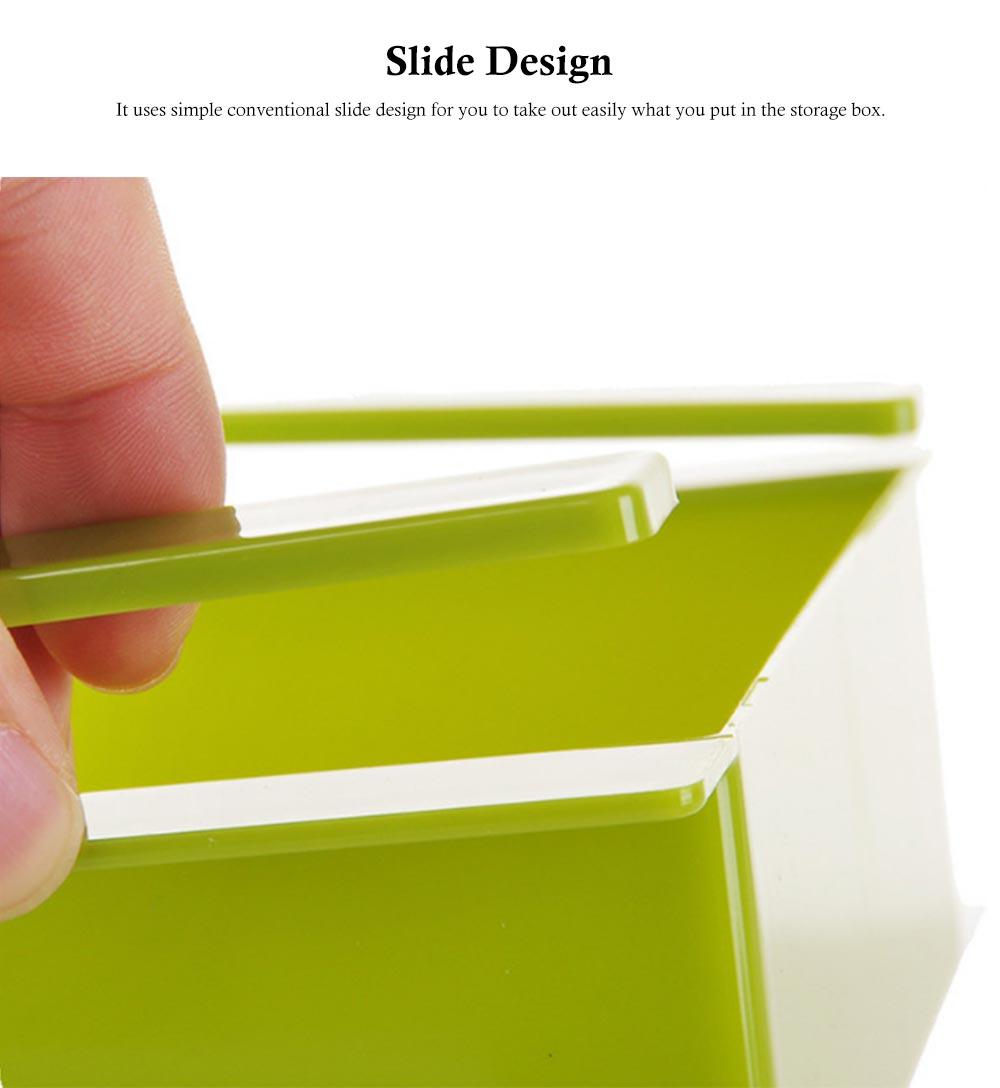 Slide Design Refrigerator Food Crisper, Commodity Shelf, Drawer Type PP Storage Box 5