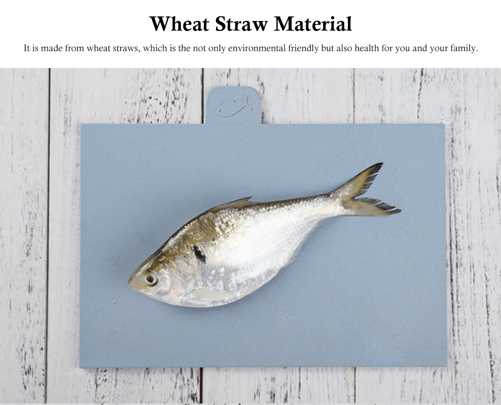 Environment Friendly Wheat Straw Cutting Board, 4 colors a Suit, with Small Cartoon Pattern Icon Design 5