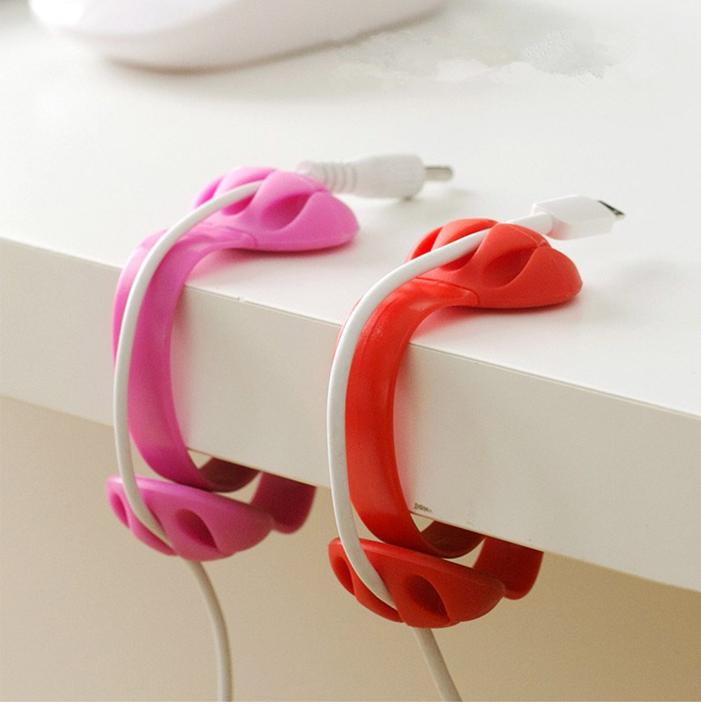 Tableside Wire Clip, with S Shape Design, PP and Silicone Material, Fit Different Thicknesses of The Table 1