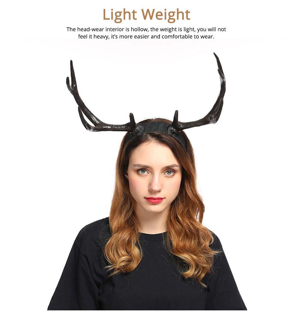 Elk Antlers Hair Band Head Hoop for Birthday Anniversary Cartoon Polyethylene Plastic Lovable Head-wear 2