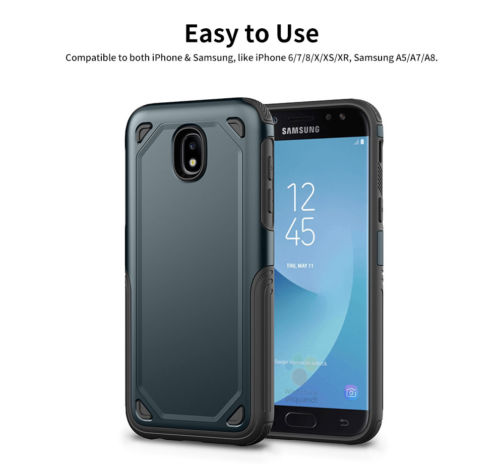 Innovative Armor Phone Case, Two-in One Phone Protection Cover Shatterproof for Samsung, iPhone 11