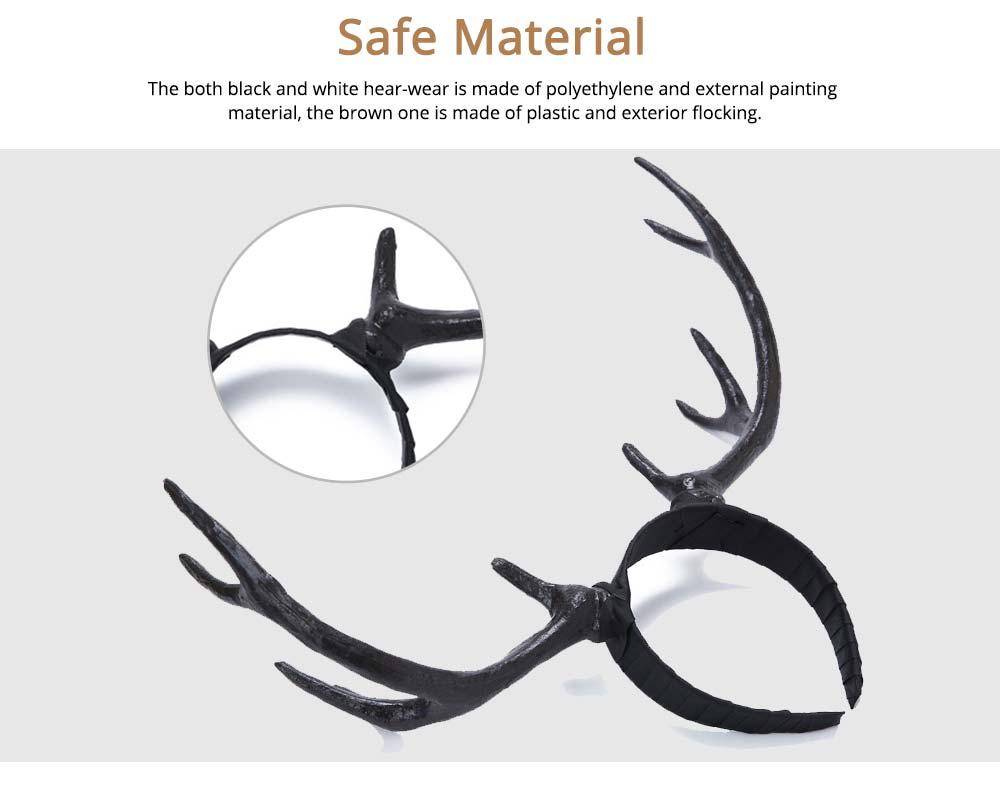 Elk Antlers Hair Band Head Hoop for Birthday Anniversary Cartoon Polyethylene Plastic Lovable Head-wear 4